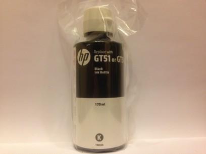 HP pn: 1VU32A Оригинальные чернила HP GT51XL цвет черный 170мл